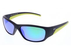 Солнцезащитные очки HIS Polarized детские спортивные черный матовый цвет (HP50105-1)
