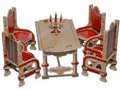 Столовая (белая), Коллекционный набор сборной мебели из картона, Умная бумага