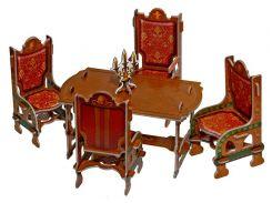 Столовая, Коллекционный набор сборной мебели из картона, Умная бумага