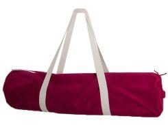Сумка-чехол для йоги коврика Cherry Love, бордо с белой молнией и ручками, Foyo