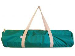 Сумка-чехол для йоги коврика Emerald, изумрудный с белой молнией и ручками, Foyo