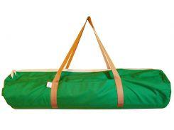 Сумка-чехол для йоги коврика Green Bn, зеленый с коричневыми ручками, Foyo