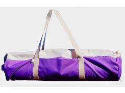 Сумка-чехол для йоги коврика Purple Ivory, фиолетовый, молоко с белой молнией и ручками, Foyo