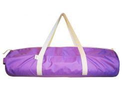 Сумка-чехол для йоги коврика Purple, фиолетовый с белой молнией и ручками, Foyo