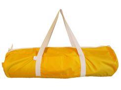 Сумка-чехол для йоги коврика Sun W, желтый с белыми ручками, Foyo