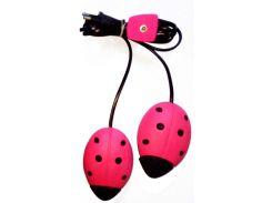 Сушилка для обуви электрическая Божья коровка (розовая), Алпрофон