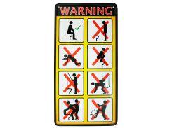 Табличка металлическая Warning WC!, 15 × 30 см, Це Добрий Знак