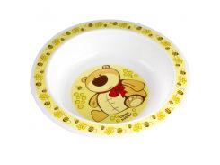 Тарелка пластиковая глубокая Smile с мишкой, Canpol babies