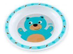 Тарелка пластиковая мелкая Smile с медвежонком,, Canpol babies