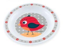 Тарелка пластиковая мелкая Smile с птичкой, Canpol babies