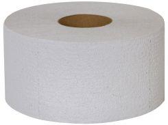 Туалетная бумага Джамбо, 100 м, серая, однослойная, гильза 60 мм, макулатура, Greenix