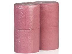 Туалетная бумага, двухслойная, 4 рулона в упаковке, макулатура, Greenix