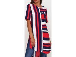 Туника в полоску, синий-красный-белый, размер XL, Radda