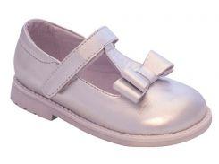 Туфли для девочек, кожаные, серебро, Lapsi (28)