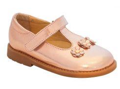 Туфли для девочек, кожаные, шампань, Lapsi (27)
