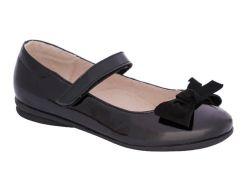 Туфли для девочек, черные, лакированные, Lapsi (36)