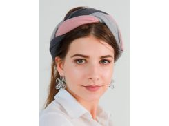 Тюрбан косичка My Scarf, серо-розовый (1002)
