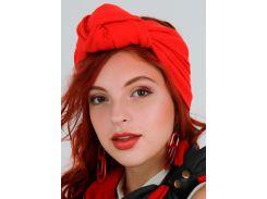 Тюрбан трикотажный My Scarf, красный цвет (1022)