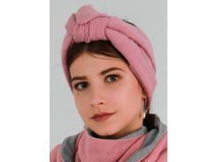 Тюрбан трикотажный My Scarf, розовый цвет (1025)