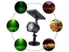 Уличный лазерный проектор на солнечной батарее, красный и зеленый, IP65, Ecolend
