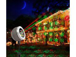 Уличный лазерный проектор, красный, зеленый, IP65, Ecoland