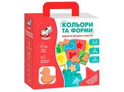 Цвета и формы, деревянные фигурки в мешочке, Vladi Toys