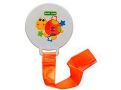 Цепочка для пустышки Джунгли (оранжевый цвет), Baby Team