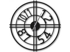 Часы настенные Bersa, черные, WallArt