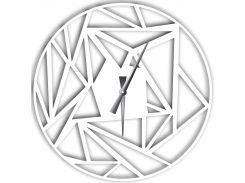 Часы настенные Detriti, белые, WallArt