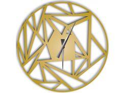 Часы настенные Detriti, золотые, WallArt