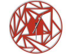Часы настенные Detriti, красные, WallArt