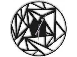 Часы настенные Detriti, черные, WallArt