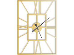 Часы настенные Finestra, золотые, WallArt