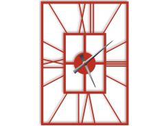 Часы настенные Finestra, красные, WallArt