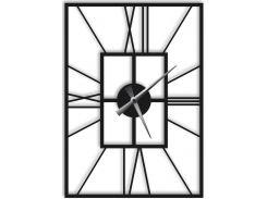 Часы настенные Finestra, черные, WallArt