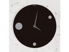 Часы настенные Moon, черные, WallArt