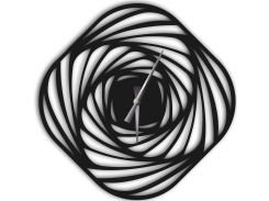 Часы настенные Mulinello, черные, WallArt