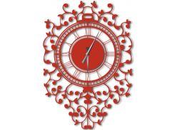 Часы настенные Riccioli, красные, WallArt
