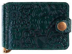 Зажим для денег HiArt MC-01 Crystal Green Mehendi Art (MC-01-C19-5406-T005)