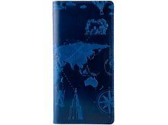 Кожаный кошелек HiArt WP-02 Crystal Blue 7 wonders of the world (WP-02-C19-4026-T002)