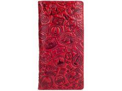 Кожаный кошелек HiArt WP-02 Crystal Red Let's Go Travel (WP-02-C19-1652-T007)