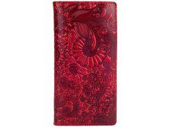 Кожаный кошелек HiArt WP-02 Crystal Red Mehendi Art (WP-02-C19-1652-T005)