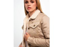 Куртка DASTI Denim Urban джинсовая женская на овчине бежевая L (482DS20191697)
