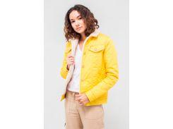 Куртка DASTI Denim Urban джинсовая женская на овчине желтая L (482DS20191698)
