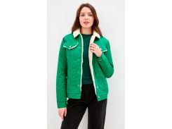 Куртка DASTI Denim Urban джинсовая женская на овчине зеленая XL (482DS20191699)