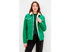 Куртка DASTI Denim Urban джинсовая женская на овчине зеленая XS (482DS20191699)