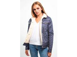 Куртка DASTI Denim Urban джинсовая женская на овчине темно-синяя L (482DS20191701)