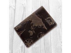 Обложка для паспорта HiArt Shabby Gavana Brown 7 wonders of the world (PC-02-S19-1106-T002)