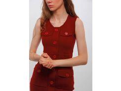 Платье DASTI Iconic трикотажное с карманами бордовое one size (804DS20191441)