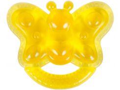 Грызунок с водой Бусинка Бабочка желтый (1085/2)